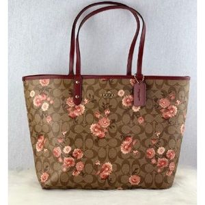 Coach Reversible City Tote with Daisy Clusters